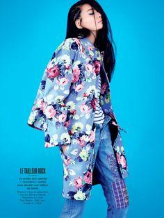 li wei naomi yang6 Li Wei Wears Spring Prints for Naomi Yang in Glamour France