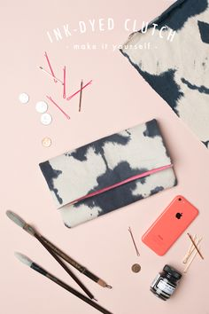 DIY Ink-dyed clutch