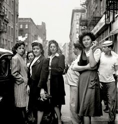 Little Italy, New York City, 1943, photo by Fred Stein
