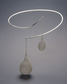Sowon Joo. Torque necklace of woven and hammered sterling silver.