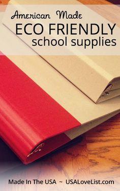 American Made Eco friendly school supplies #mywatergallery