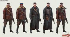 """I decided to make a series of fanart concepts for the Fallout game. I want to take a look at how this world could be """"on the other side."""" Utopia, futurism and post-apocalypse are not in the United States, but in the totalitarian USSR. Fallout Rpg, Fallout Game, Fallout New Vegas, Character Creation, Character Concept, Character Design, Character Ideas, Fallout Concept Art, Steampunk Weapons"""