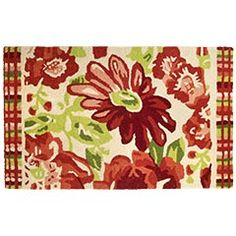 Red Gerber Plaid Bordered Rug- Oh this would bring so much life to any room!