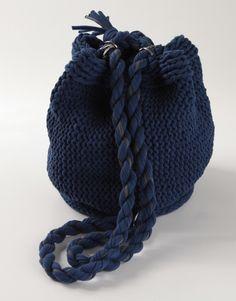 DIY Knit Backpack.