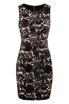 ROMWE   Cut-out Flower Embroidered Zippered Black Dress, The Latest Street Fashion