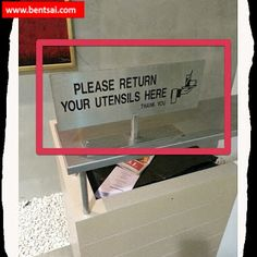 Encourage customers to return own trays after eating at food court with tis sign   Action: I wish this procedure could be implemented in all Food Court. Food-And-Drinks Food-Court Ideas Musing-On-Parenting Singapore