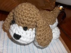 Sheep of Delight: Free amigurumi crochet pattern: Hound dog pup