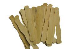 "Perfect Stix 8"" Wooden Wavy Fan Handles (Box of 100)"