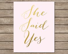 She Said Yes, Would You? by Miss Angel on Etsy