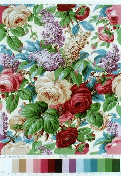 Chintz fabric is a favorite of mine. Motif Vintage, Vintage Fabrics, Vintage Roses, Vintage Diy, Vintage Floral, Textile Patterns, Print Patterns, Textiles, Floral Fabric