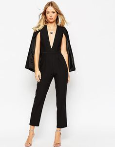 05ac34fbd0 ASOS Jumpsuit with Cape Detail at asos.com