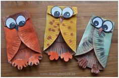 Adorable Paper Plate Owls. Love these! So cute!