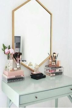 Image result for rose gold, white and mint bedrooms MINT FOR THE CLOCK?