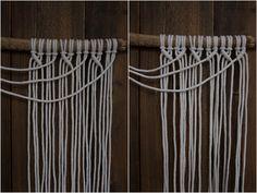 Kaarnan katveessa: Kuvalliset ohjeet: makramee seinävaate Handicraft, Clothes Hanger, Knit Crochet, Diy And Crafts, Christmas Decorations, Knitting, Crafty, Creative, Home Decor