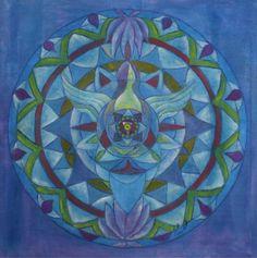 "Saatchi Art Artist Renate van Nijen; Painting, ""Angel of friendship mandala"" #art"