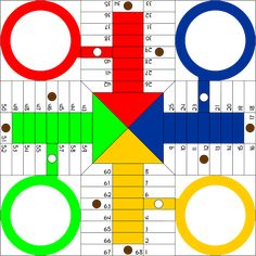 Free professional design parchis board vector file with clipart version PNG and SVG parchis board vector file. Board Game Template, Printable Board Games, Games For Kids, Games To Play, Ludo, B 13, Digi Stamps, Literacy Activities, Board Games