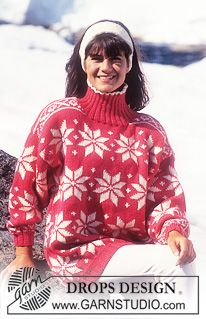 """DROPS 31-11 - Drops sweater with star repeat pattern in """"Alaska"""". - Free pattern by DROPS Design"""