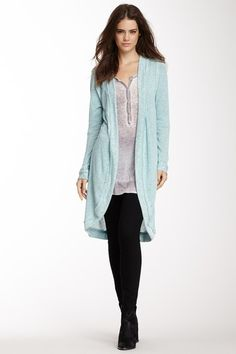 Coin1804 Loop Knit Long Cardigan by Coin 1804 on @HauteLook