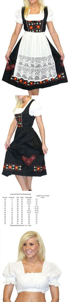 Dirndls 163143: Dirndl Oktoberfest German Waitress Dress Embroidered .. 3 Pieces Complete Set -> BUY IT NOW ONLY: $169 on eBay!