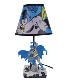 The dark, dreary night approaches like a villain in the shadows. Only one device can save Bedroom City from being overrun by the monsters hiding in the closet, and it's this animated lamp! With its action-posed figurine base and graphic shade, this illuminating piece will be the hero of any kid's room.