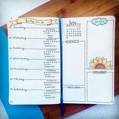 Creative Inspiration: Bullet Journal Weekly Spread ~ Bujo layout ideas ~ Planner page art ~ Bujo weeklies Online Bullet Journal, Bullet Journal Mood Tracker, Planner Bullet Journal, Bullet Journal Spread, Bullet Journal Layout, Moleskin Planner, Filofax, Bujo, Agenda Planning