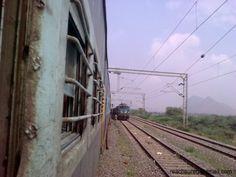 A speeding train on the scenic Konkan Railway route