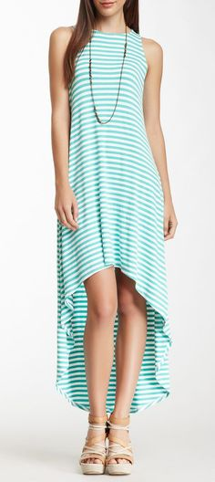 Ella Moss Boatneck Hi-Lo Maxi Dress