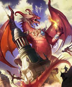 Fantasy Pictures, Cool Pictures, Legendary Dragons, Dragon's Lair, Dragon Artwork, Fantasy Dragon, Mythological Creatures, Shadowrun, Fantastic Art