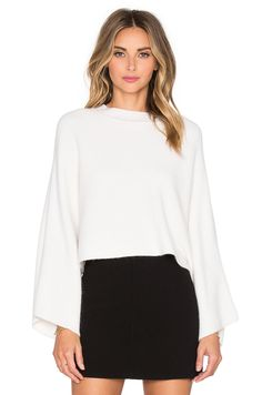 MILLY Architectural Draped Sweater. #milly #cloth #dress #top #shirt