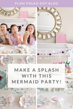 Recently, we were asked to make a collection of custom hair ties to celebrate a very special 4th birthday for a little girl named Ellie. Like many girls her age, Ellie has a love for all things princesses and mermaids, and so her super creative momma Melissa from Petite Littles Everyday put together the absolute cutest mermaid-themed celebration for her.  Looking for some inspiration for the little mermaid in your life? Let us show you how Melissa put it all together!