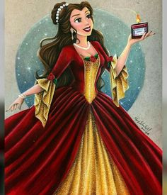 Belle's Christmas dress is truly everything!! What a dream it would be to wear such a beautiful gown❤️