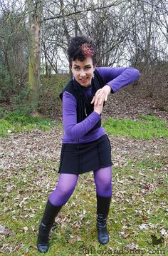 Disney-bounding as Ursula from the Little Mermaid in me-made skirt, vest, scarf and earrings! Ursula Disney, Scarf Tutorial, Disney Bounding, Disneybound, Refashion, The Little Mermaid, Vest, Sporty, Earrings