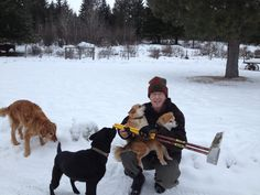Husband Marty and dogs Quixote, Quora, Gracie and Shakira