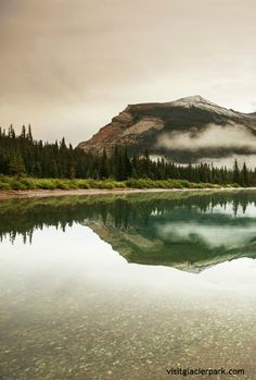 Serene Elizabeth Lake   Glacier Park, Montana   http://visitglacierpark.com