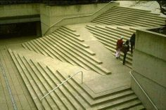 Wheelchair accessible stairs.