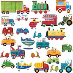 RoomMates RMK1132SCS Transportation Peel & Stick Wall Decals $14.00