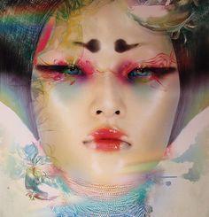 """""""Vision"""" de Chen Man (Exposition """"Couleurs sur corps"""", CNRS)"""