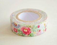 Washi Tape Flower Washi Tape Floral Washi Tape Masking Tape - 10m