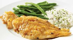 Try this Hoisin-orange haddock Fish Recipes, New Recipes, Favorite Recipes, Sauce Hoisin, I Want To Eat, Fish And Seafood, Orange, Green Beans, Clean Eating