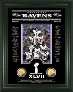 Baltimore Ravens Super Bowl 47 Champs Etched Glass Photomint