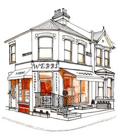 Building Illustrations - Gallery, Clapham