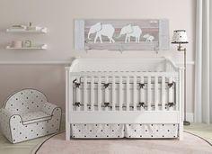 Elephant Nursery Decor Baby room decor Parade of by Authenticaa