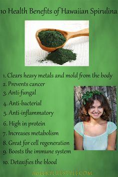 10 health benefits of Hawaiian Spirulina  #afflink
