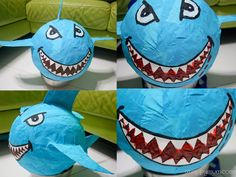 A Happy Mum | Singapore Parenting Blog: It's a SHARK! How to make a shark pinata.