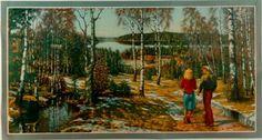 Bonad: Vårpromenad  (liten)    Anders Olsson