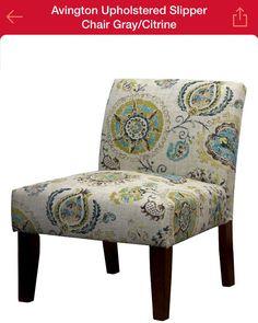 Avington Slipper Chair in Gray/Citrine (Target.com), pair :: Living Room