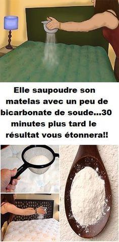 Elle saupoudre son matelas avec un peu de bicarbonate de soude…30 minutes plus tard le résultat vous étonnera!!