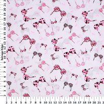 Breast Cancer Awareness - Pink Ribbon Bras on White Cotton Fabric (Hancock fabric)