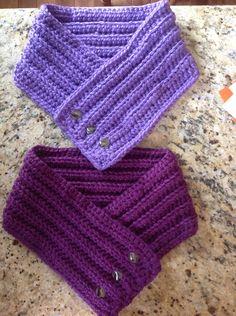 Crochet cowl scarf purples :))