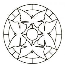 mandalas for kids Easy Mandala Coloring Page For Children